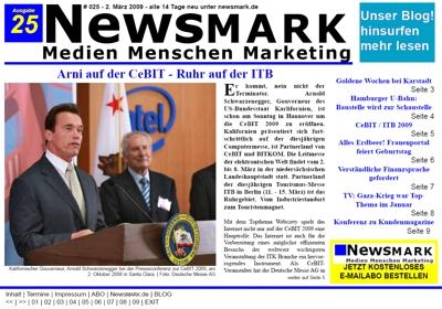 NewsMARK #025 vom 2. März 2009