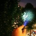 Die Leuchtkraft der LED LENSER M5 beeindruckend