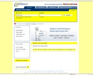 Screenshot der türkischen Version der Branchenbuch AG